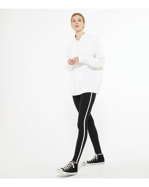 New Look Tall Black And White Side Stripe Leggings