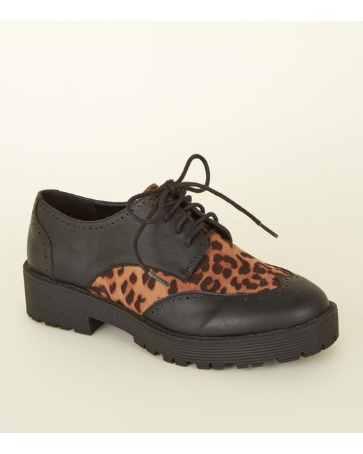 Look Print Shoes New Black Panel Chunky In Lyst Leopard edCxBoWr