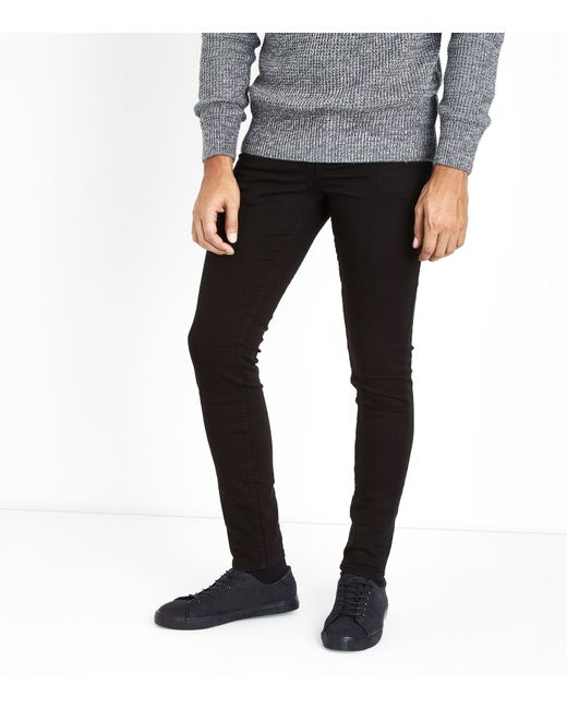 New Look Black Skinny Stretch Jeans for men