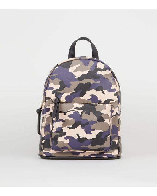 86930d9215 New Look Pink Camo Print Backpack in Pink - Lyst