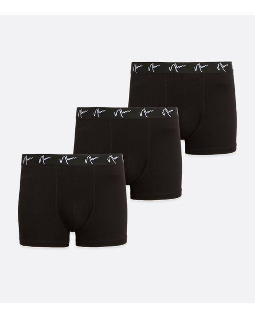 New Look 3 Pack Black Nlm Logo Boxers for men