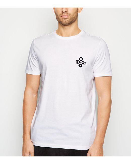 New Look White Ny Logo T-shirt for men