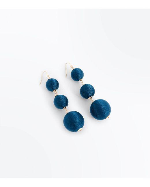 New Look - Blue Chloe's Finds Teal Orb Drop Earrings - Lyst
