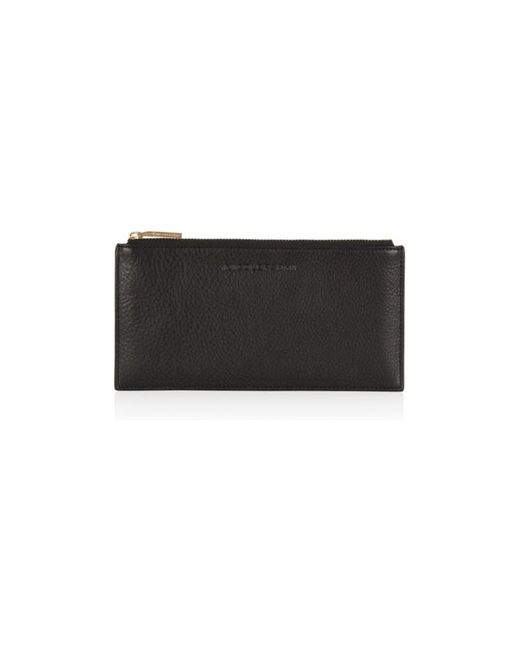 Nicole Farhi | Black Silk Calf Zip Top Pouch | Lyst