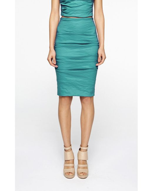 Nicole Miller - Blue Sandy Skirt - Lyst