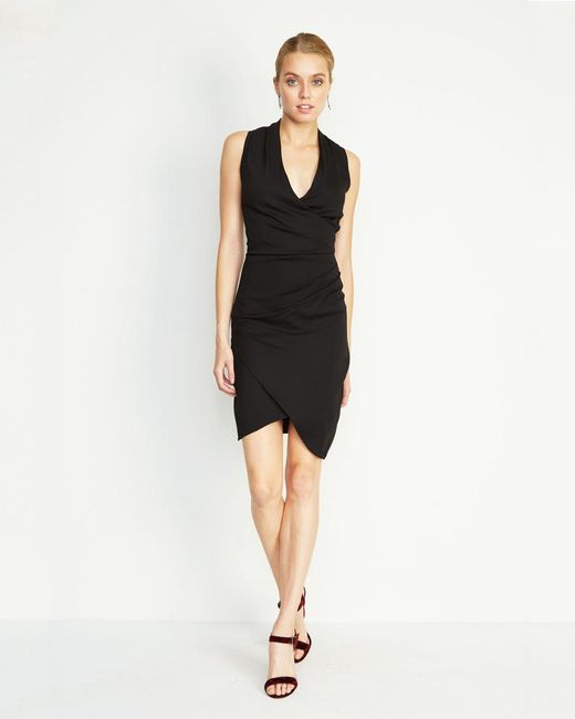 Nicole Miller | Black Stefanie Crepe Dress | Lyst