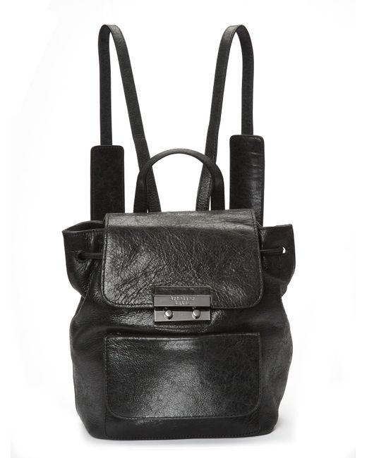 Nicole Miller | Black Legend Leather Backpack | Lyst
