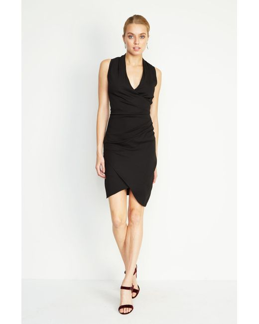 Nicole Miller | Black Stefanie Crepe Dress | Lyst