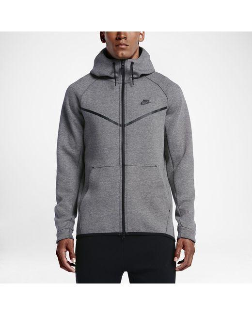 841ad062fa Nike - Black Sportswear Tech Fleece Windrunner Men s Hoodie for Men - Lyst