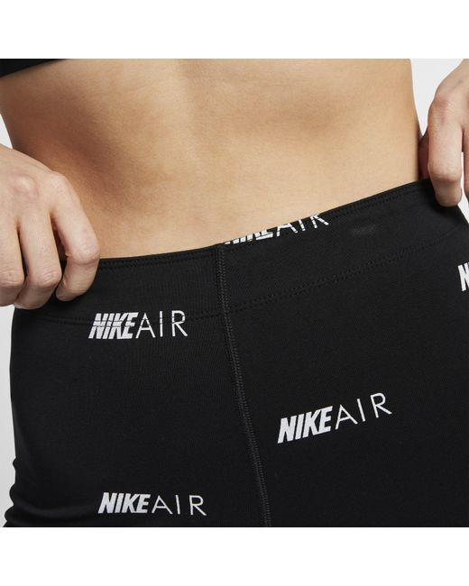 d83a9985e Nike Sportswear Air Print Bike Shorts in Black - Save 36% - Lyst