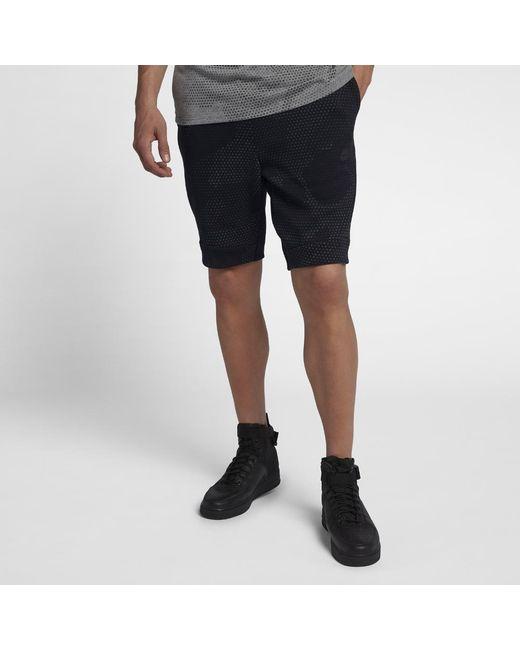 cbc1a9586bee Lyst - Nike Sportswear Tech Fleece Men s Shorts in Black for Men