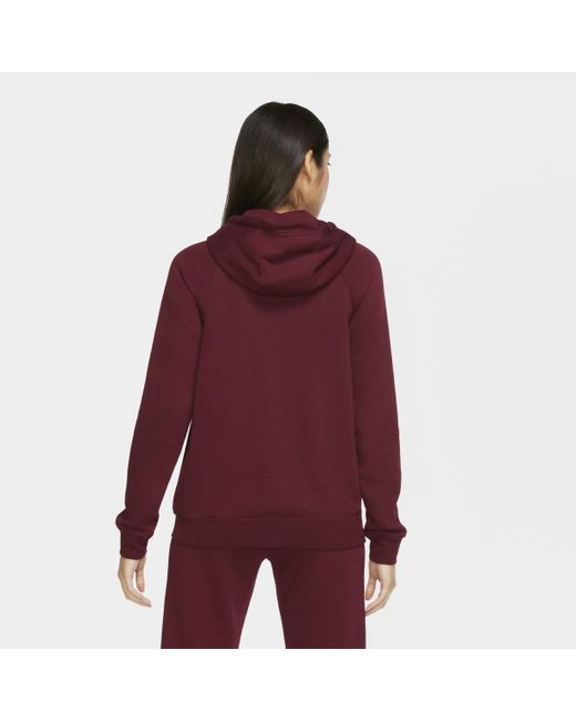 Felpa con cappuccio e zip a tutta lunghezza Sportswear Windrunner Tech Fleece di Nike in Red