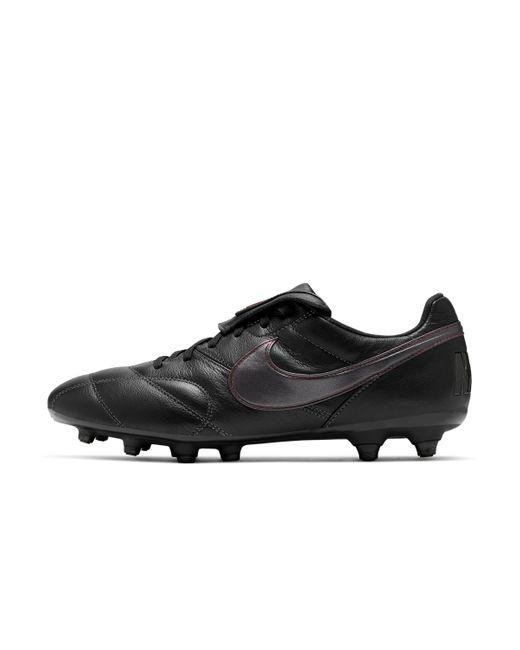 Chaussure de footballà crampons pour terrain sec Premier II FG Nike en coloris Black