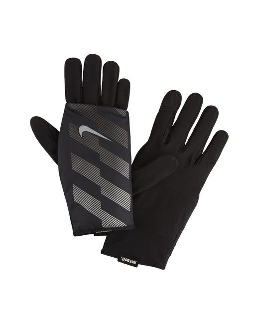 Gants de running Flash Quilted pour Nike pour homme en coloris Black