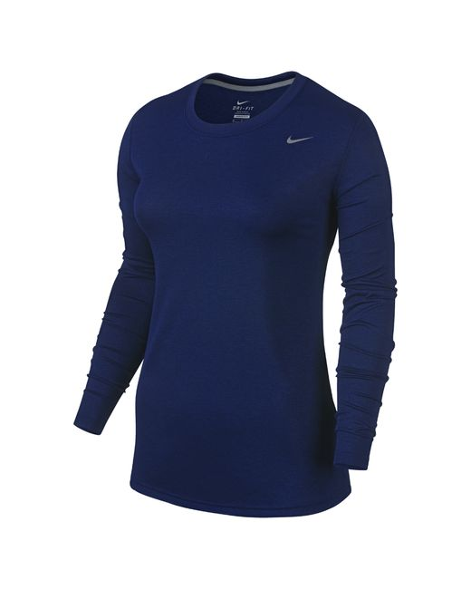 nike legend long sleeve women 39 s training shirt in blue