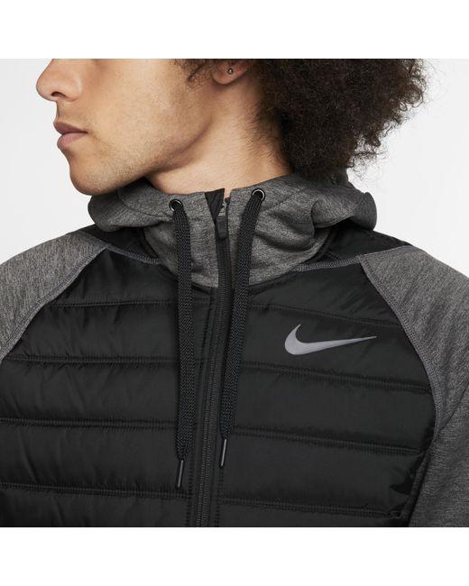 Nike Therma Trainingsjacke mit Kapuze und durchgehendem