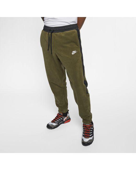5d4bf89c85b6d6 Nike - Green Sportswear Trousers for Men - Lyst ...