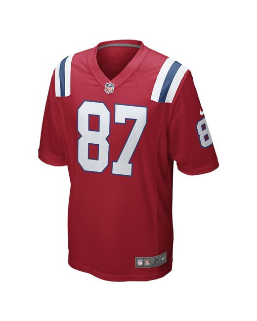 03399ae84 Nike - Red Nfl New England Patriots (rob Gronkowski) Men s Football  Alternate Game Jersey