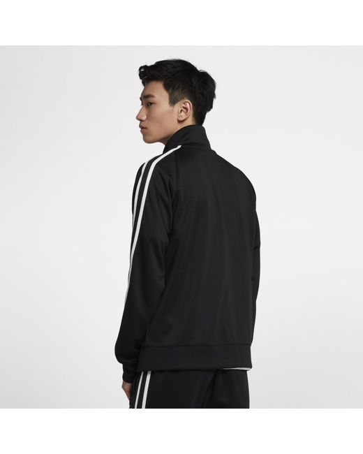 019cac83f ... Nike - Black Sportswear N98 Knit Warm-up Jacket for Men - Lyst ...