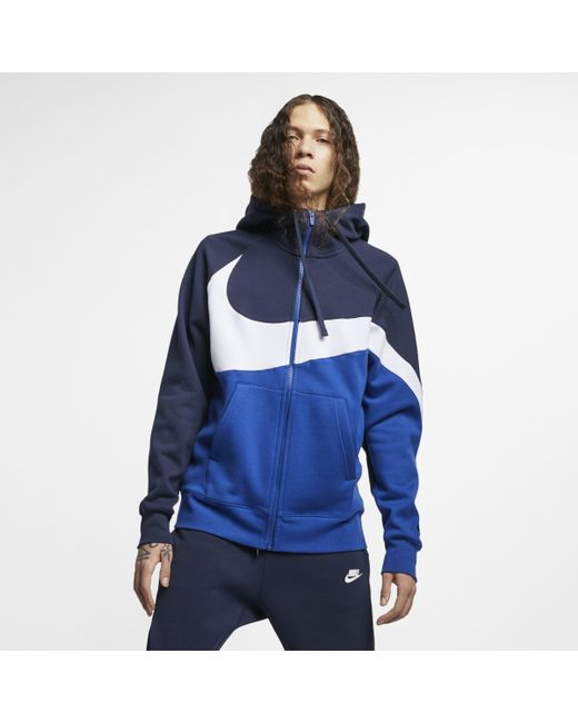 fb535ff7c Nike Sportswear Full-zip Hoodie in Blue for Men - Lyst