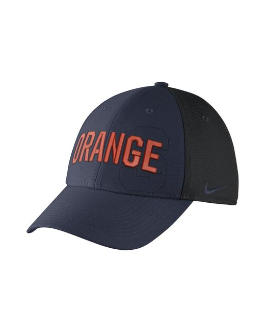 timeless design afad2 9968e ... reduced nike blue college classic swoosh flex syracuse fitted hat for  men lyst a6173 30dd6