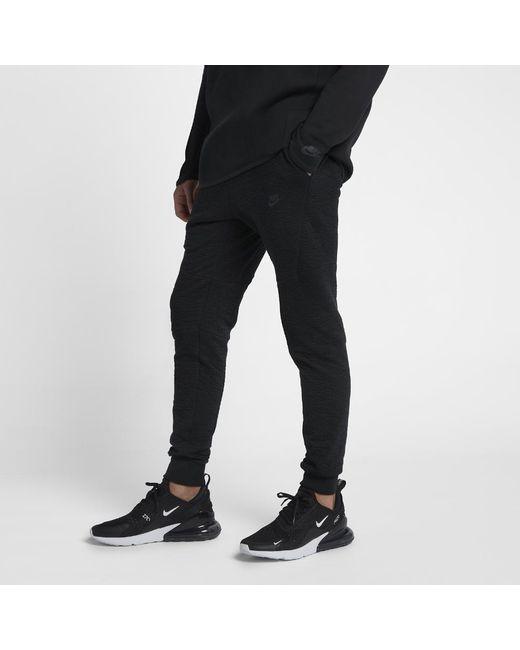 Lyst - Nike Sportswear Tech Fleece Men s Joggers in Black for Men 893e06fcff84