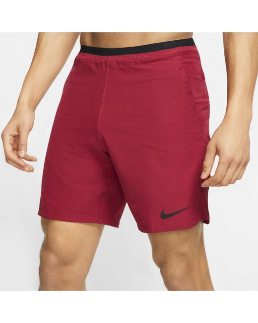 Shorts Pro Flex Rep di Nike in Red da Uomo