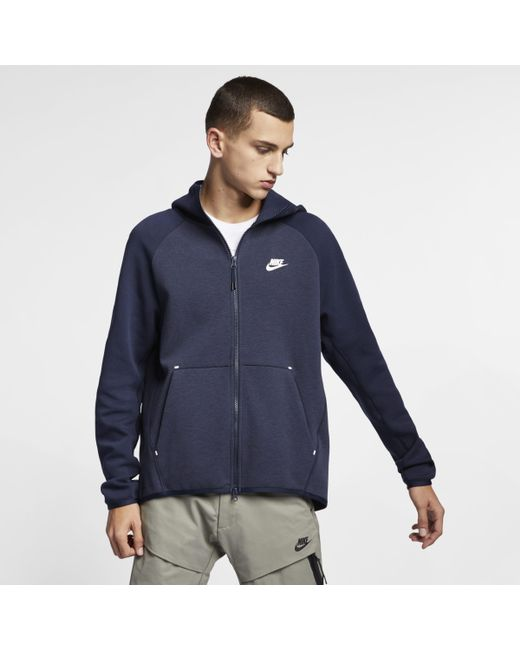 e8f4205cd3 Nike Sportswear Tech Fleece Full-zip Hoodie in Blue for Men - Lyst