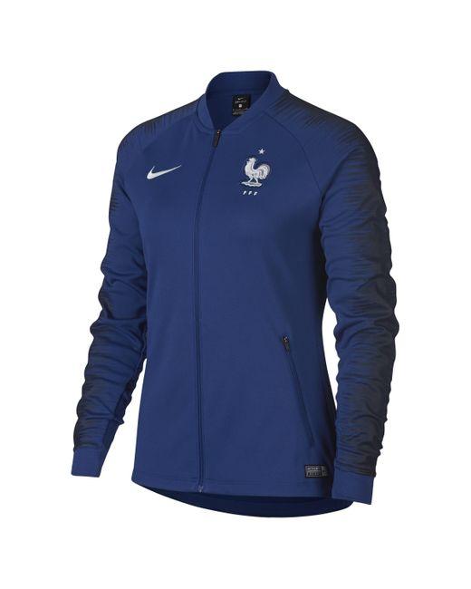 Veste de football FFF Anthem pour Nike en coloris Blue