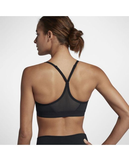Nike Indy Light Support Sports Bra In Black Save 23 Lyst