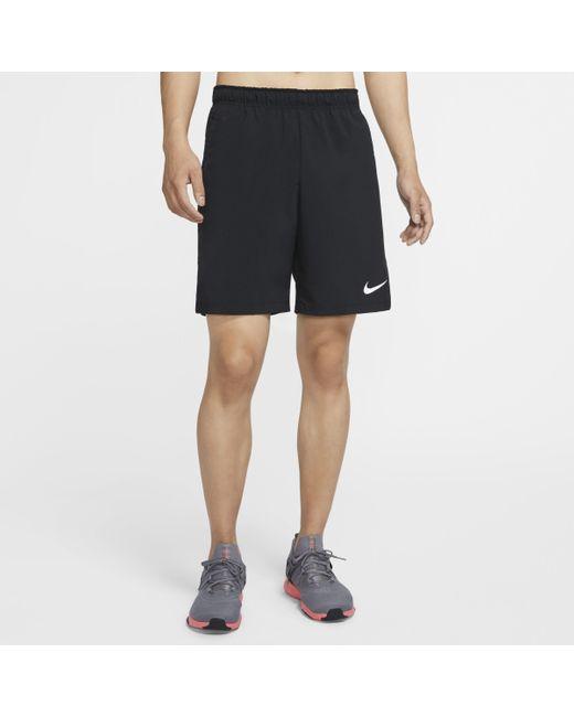 Shorts da training in tessuto Flex di Nike in Black da Uomo