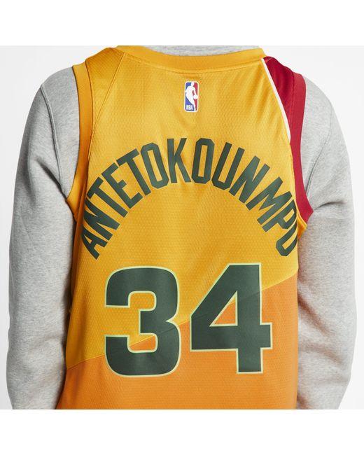 buy online 26d42 24f78 Nike Synthetic Giannis Antetokounmpo City Edition Swingman ...