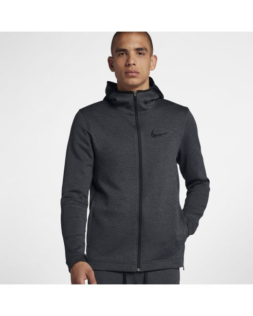 6719452fe Nike - Black Therma Flex Showtime Full-zip Basketball Hoodie for Men - Lyst