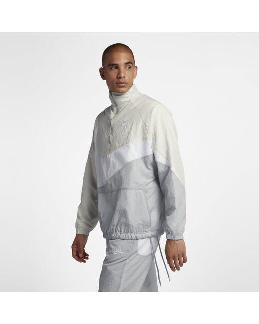 0cca05b2 Nike - Gray Sportswear 1/2-zip Jacket for Men - Lyst ...