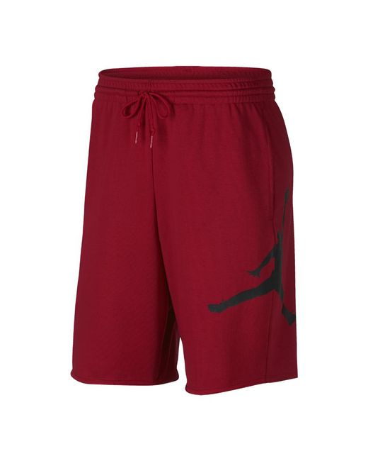 ae437097419 Lyst - Nike Jumpman Air Men's Fleece Shorts, By Nike in Red for Men