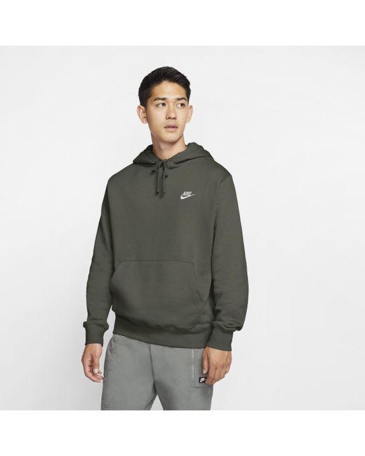 Felpa pullover con cappuccio Sportswear Club Fleece di Nike in Green da Uomo