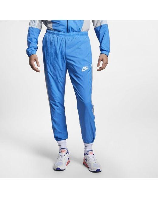 Nike Blue Sportswear Woven Trousers for men