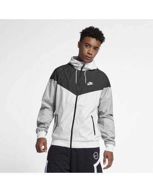 5ef26eef37 Nike Sportswear Windrunner Jacket in White for Men - Lyst