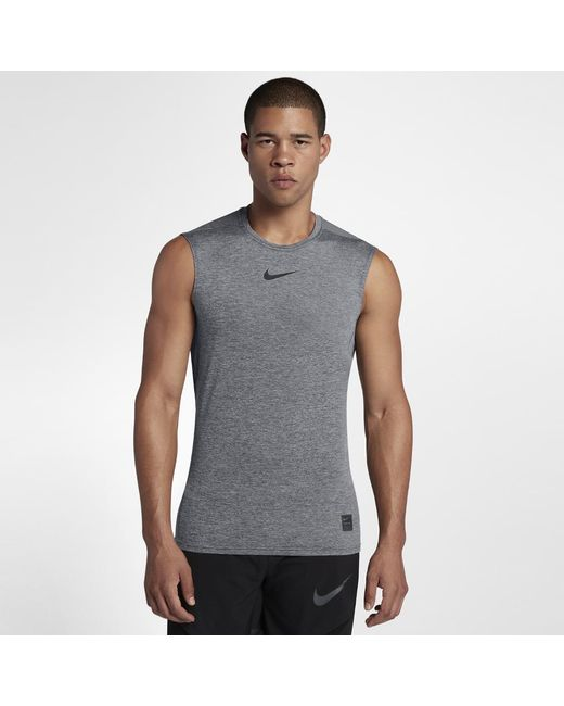 26f2cc8a25f4f Lyst - Nike Pro Men s Sleeveless Training Top in Black for Men