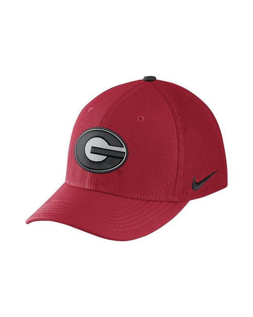 Nike - Red College Classic 99 Swoosh Flex (georgia) Fitted Hat for Men - 44568607f4c2