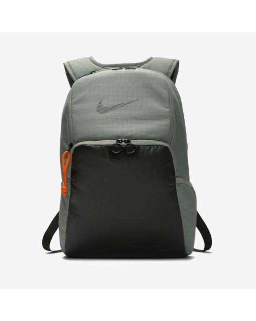 Nike Gray Brasilia Winterized Training Backpack for men