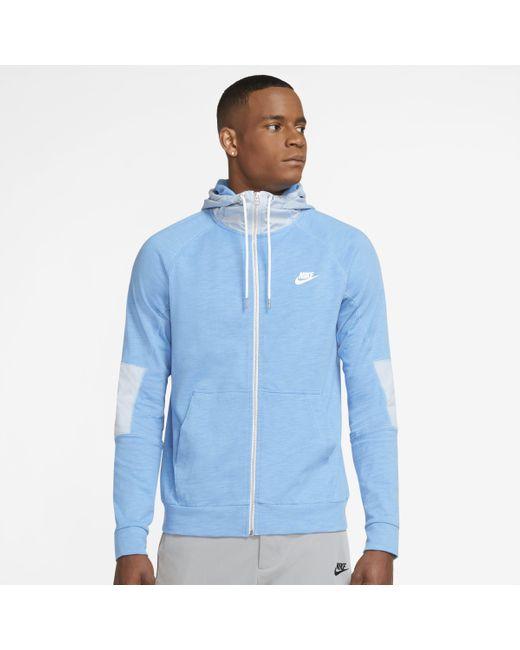Felpa leggera con cappuccio e zip a tutta lunghezza Sportswear Modern Essentials di Nike in Blue da Uomo
