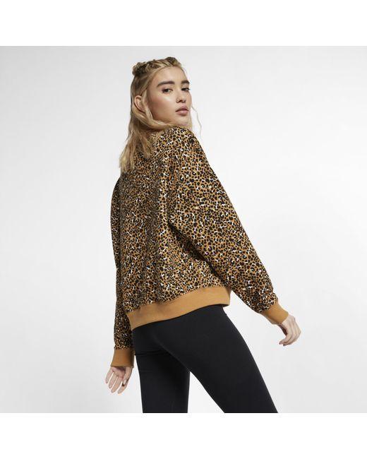 ffb63db8 ... Nike - Brown Sportswear Animal Print Crew - Lyst ...