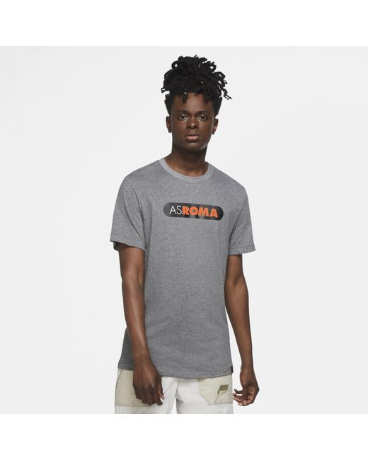 Nike Gray As Roma Football T-shirt Grey for men