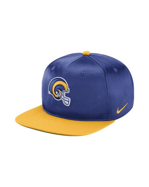 cfb6b6d86aa Lyst - Nike Pro Historic (nfl Rams) Adjustable Hat (blue) in Blue ...
