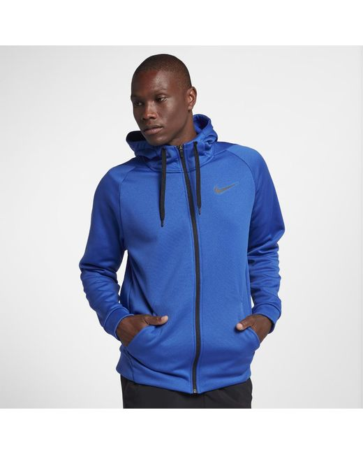 644a036169ea Lyst - Nike Dri-fit Therma Men s Full-zip Training Hoodie in Blue ...