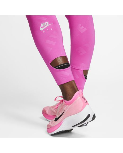 Nike Tight de running 7/8 Air pour femme de coloris rose rjvAF