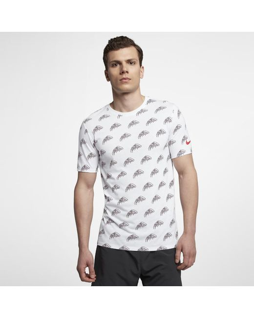 34ae815a Lyst - Nike Dri-fit Men's Printed Running T-shirt in White for Men