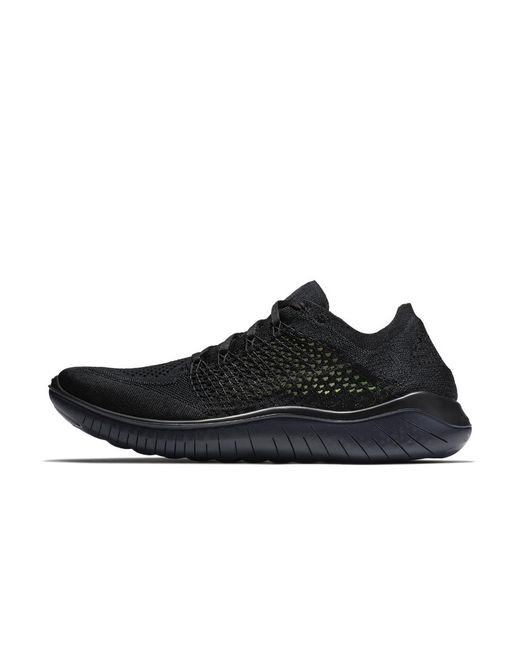 8e0b6288081 Lyst - Nike Free Rn Flyknit 2018 Men s Running Shoe in Black for Men