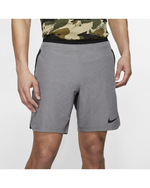 Nike Gray Pro Flex Rep Shorts (charcoal Heather) - Clearance Sale for men